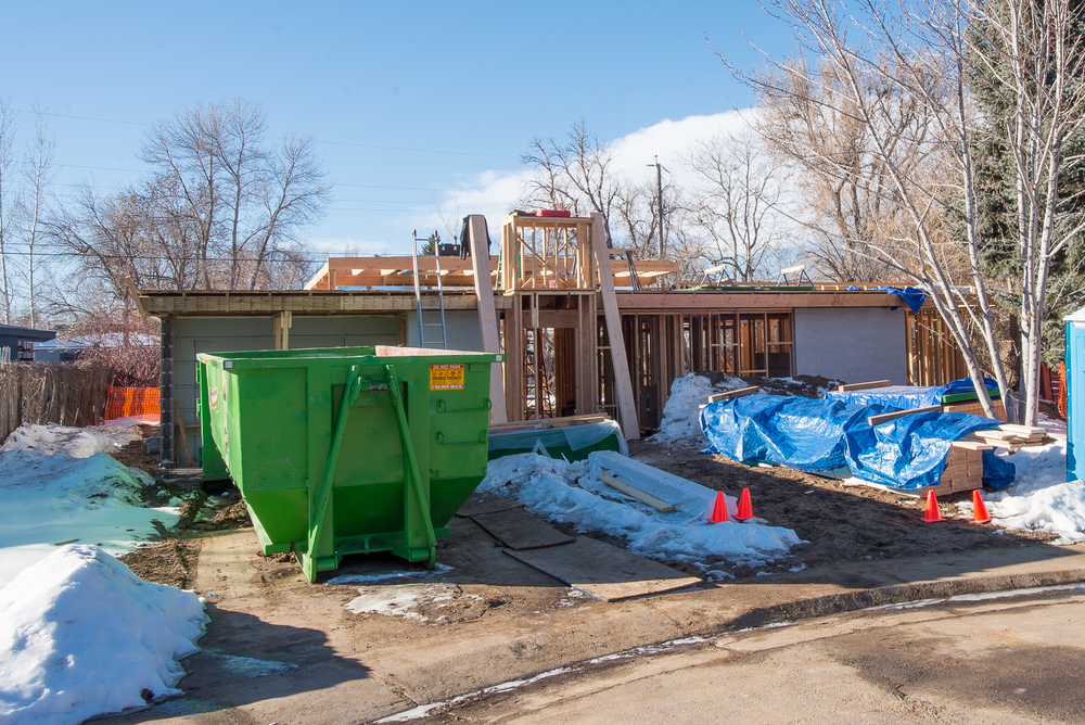 A house in Arapahoe Acres taken almost completely down in February, 2016.