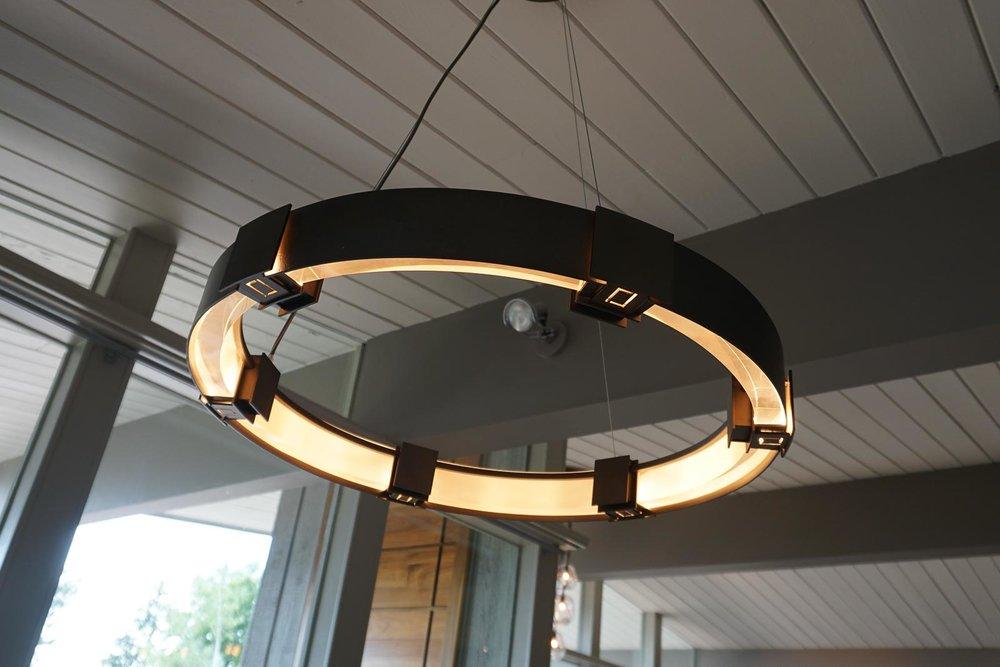 Modern chandelier . . .