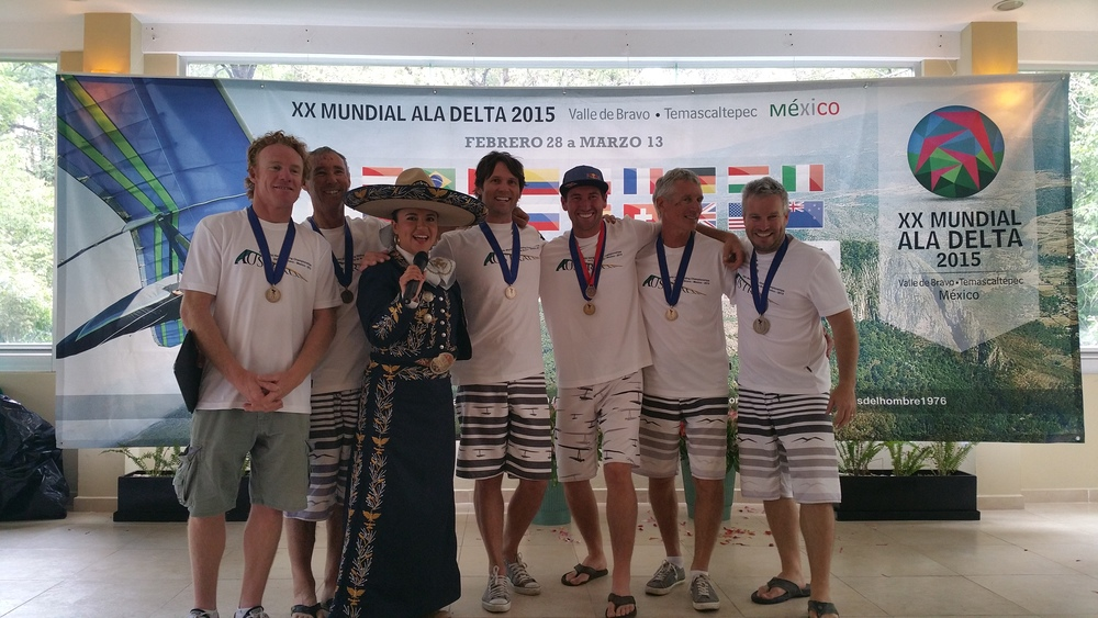 2015 : - Nils represents australia at the world hang-gliding championships in mexico. Bronze team medallist