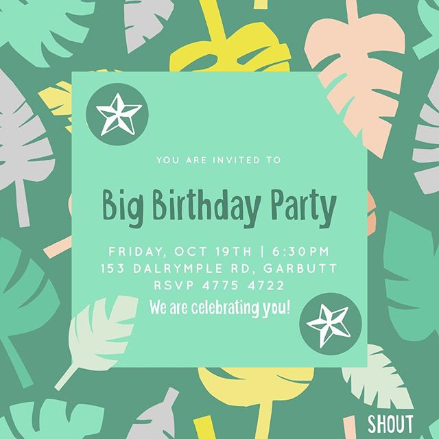 Shout might be over for this term but we are returning with a Big Birthday Party on the 19th Oct! We celebrating everyone's birthday on this night so come along it will be incredible! RSVP in profile link!