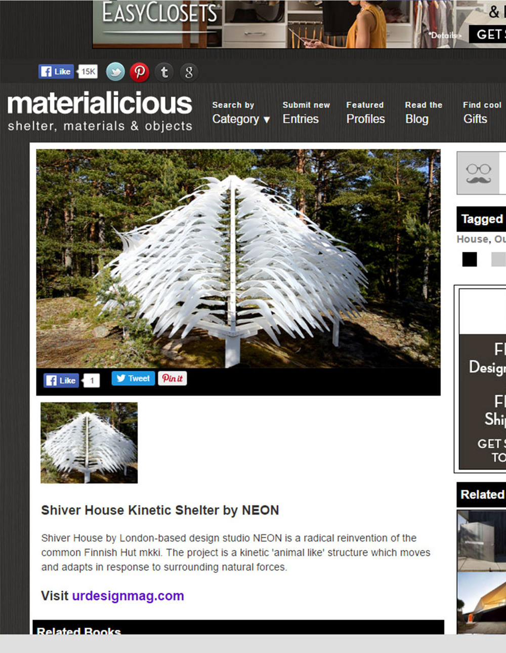 SHIVER HOUSE - Materialicious
