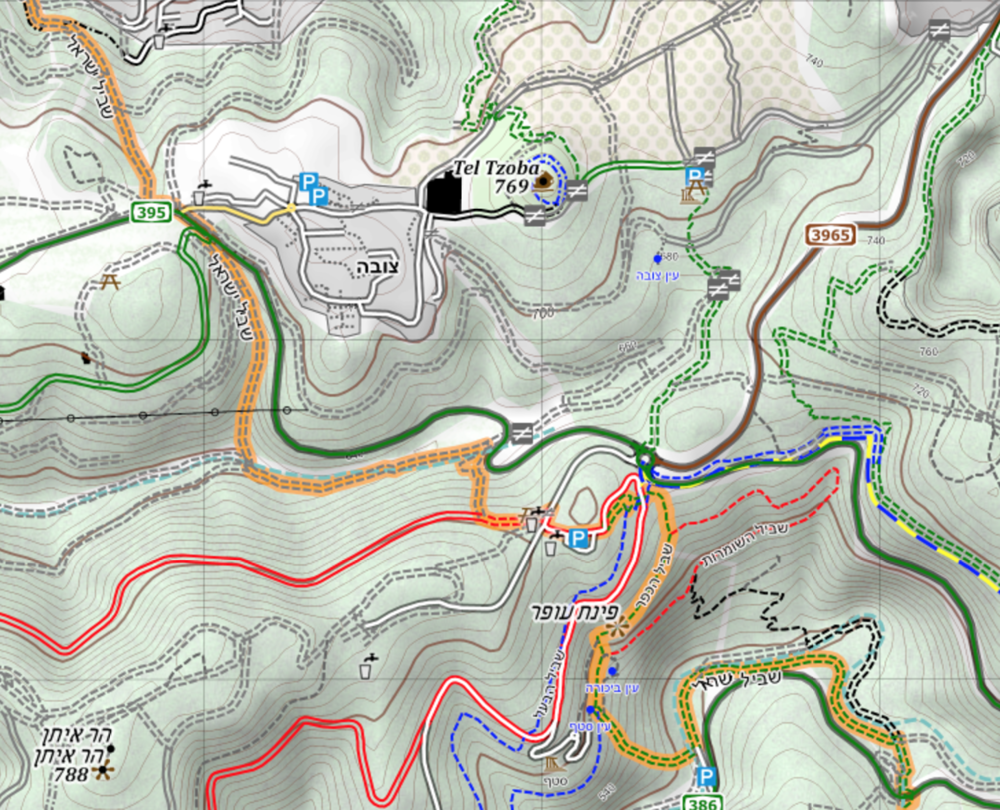 Maps — The Israel National Trail Hiking Maps on