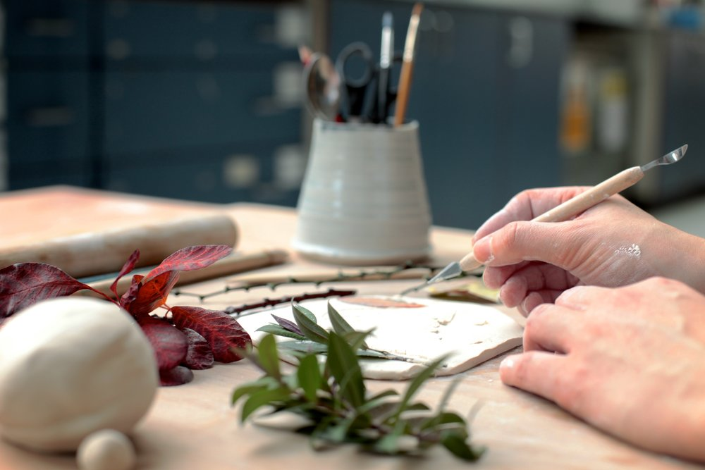 Working with Porcelain on the Flora and Fauna Workshop