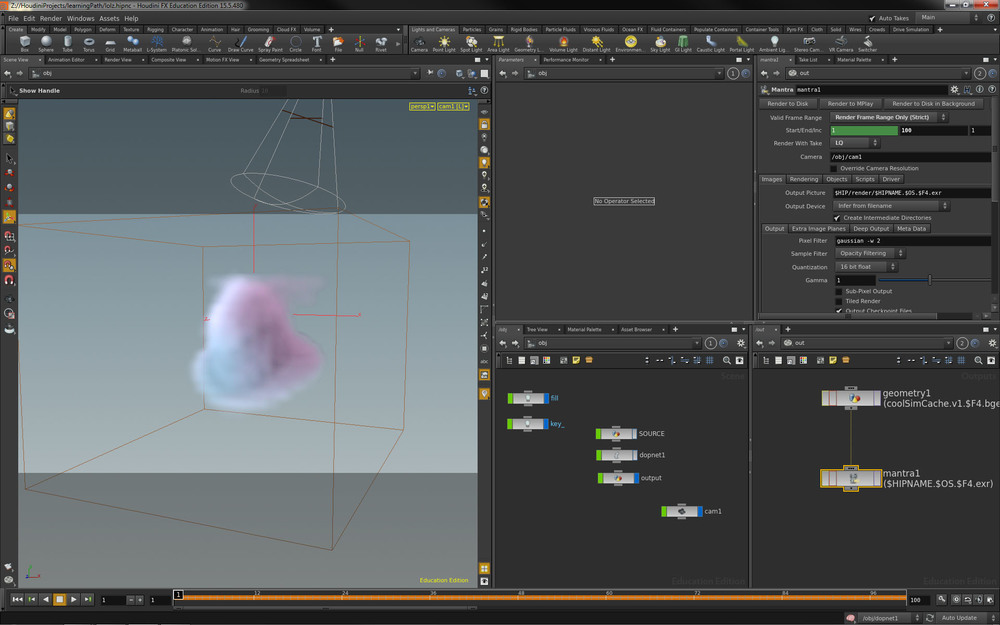 Screen Shot from my progression on Steven Knipping tutorial,