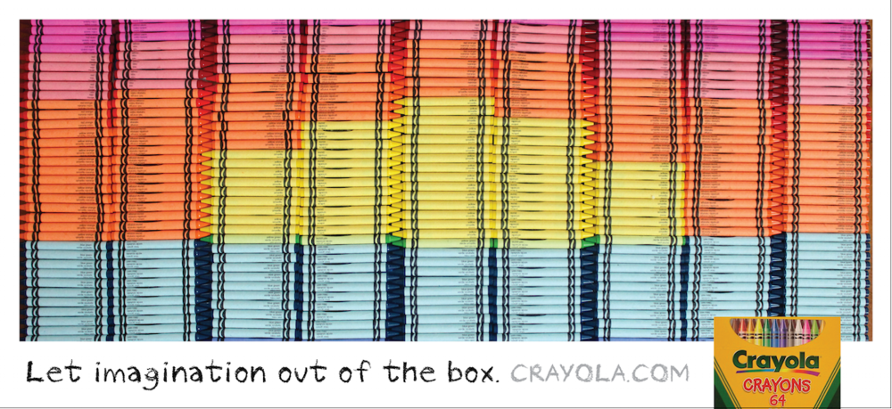 crayola crayon advertisement concept