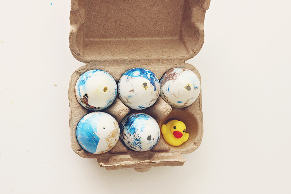 five ducks hatch marbling project