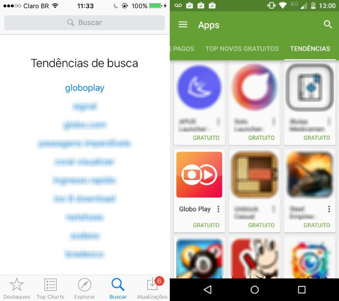 Most downloaded app in GooglePlay and AppStore Brasil