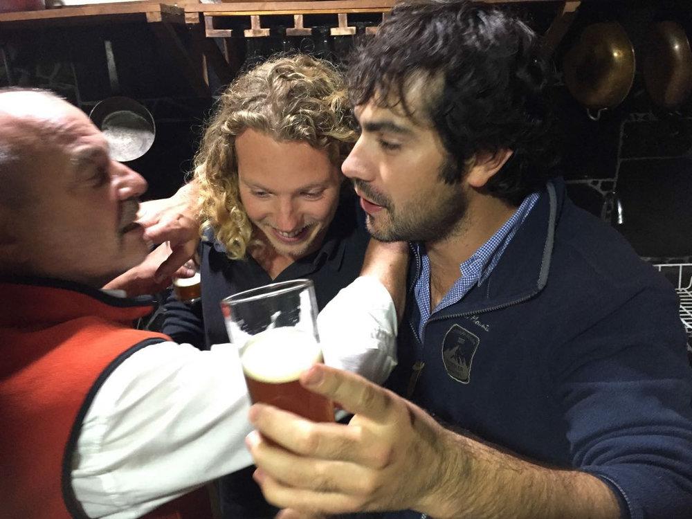 luiz jur en pancho met ons eerste zelf gemaakte ipa bier!