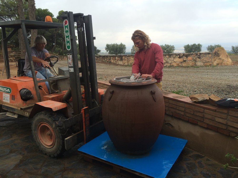 Moving the amphora inside: tricky business