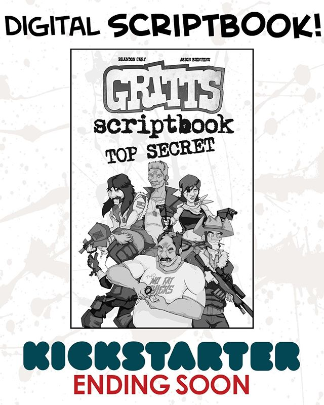 Get a digital scriptbook for GRITTS with any pledge $15 or higher! LINK IN BIO @sperocomics @sperotoys Ends this Friday! Pledge today! #comics #giftideas #80s #90s #gijoe #theateam #graphicnovel #kickstarter #crowdfunding #indiecomics #cyberdeals #fun #comedy #reading #nyccomiccon #comic #comicbooks #art #instaart #blackandwhitecomics #rednecks #giftidea #forhim #payitforward #supportindiecomics