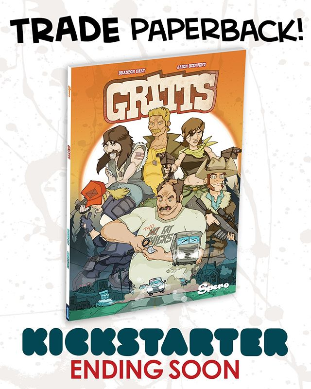 Grab a physical copy of GRITTS Vol. 1 while you can! LINK IN BIO @sperocomics @sperotoys LAST DAY! Pledge NOW! #comics #giftideas #80s #90s #gijoe #theateam #graphicnovel #kickstarter #crowdfunding #indiecomics #cyberdeals #fun #comedy #reading #nyccomiccon #comic #comicbooks #art #instaart #blackandwhitecomics #rednecks #giftidea #forhim #payitforward #supportindiecomics