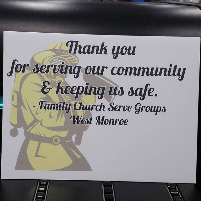 Some coroplast signs we printed this morning to thank Firefighters. #teesnthings #shoplocal #signs #firefighter