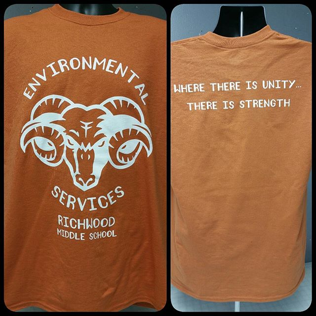 Some shirts that we printed this morning. #teesnthings #shoplocal #screenprinting #rams