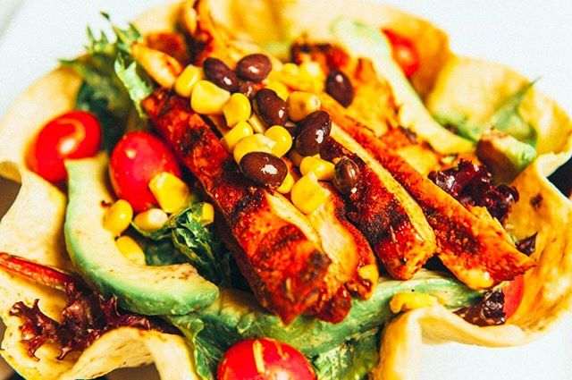 Our southwestern salad is loaded with avocado, tomatoes, corn, black beans and cajun ranch dressing! All piled a top a tortilla! #eatdrinklounge #Z2 #ztwo #NY #statenisland #tottenville #open247 #events #parties #happyhour #appetizers #drinks #bar #brunch #breakfast #kids #family #facepainting #yummy #foodie #restaurant #food #burgers #pasta #desserts #dinner #goodeats