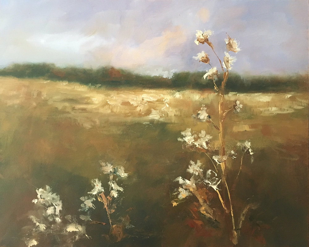 Wild Flowers Oil on panel 8 x 10