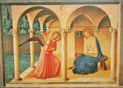 The Annunciation by Fra Angelico (c. 1450)