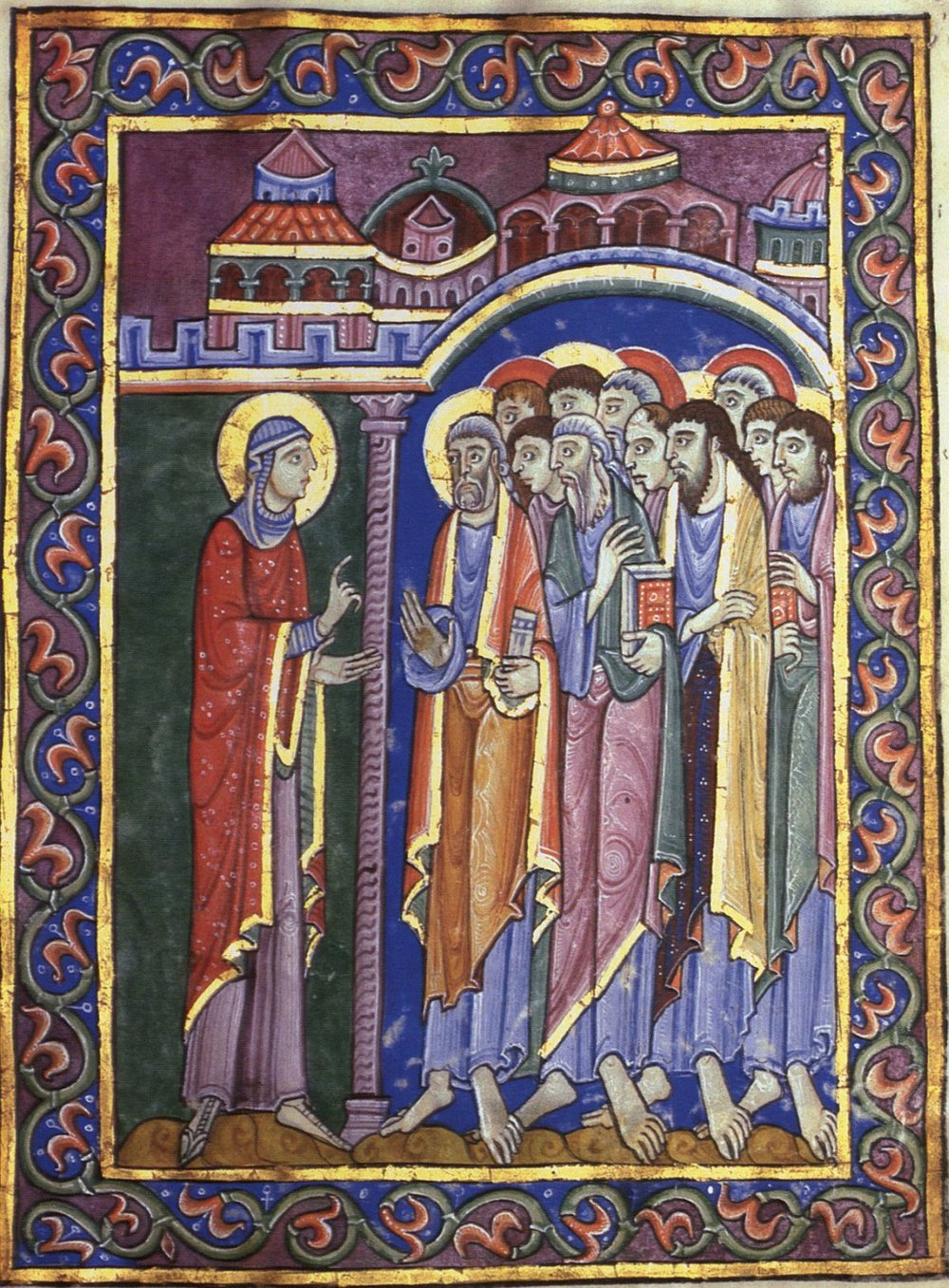 Mary Magdalen Announces the Resurrections - St. Alban's Psalter