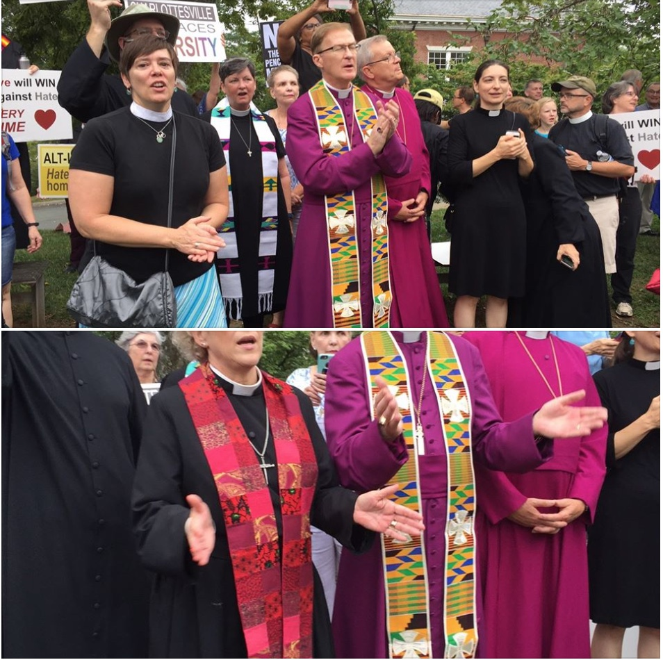 Episcopal bishops and other clergy of Virginia in Charlottesville