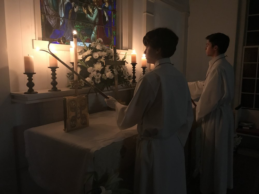 "The light spreads during the Easter Vigil, just before the first shout of ""Alleluia"" announces the end of Lent and the start of Easter."