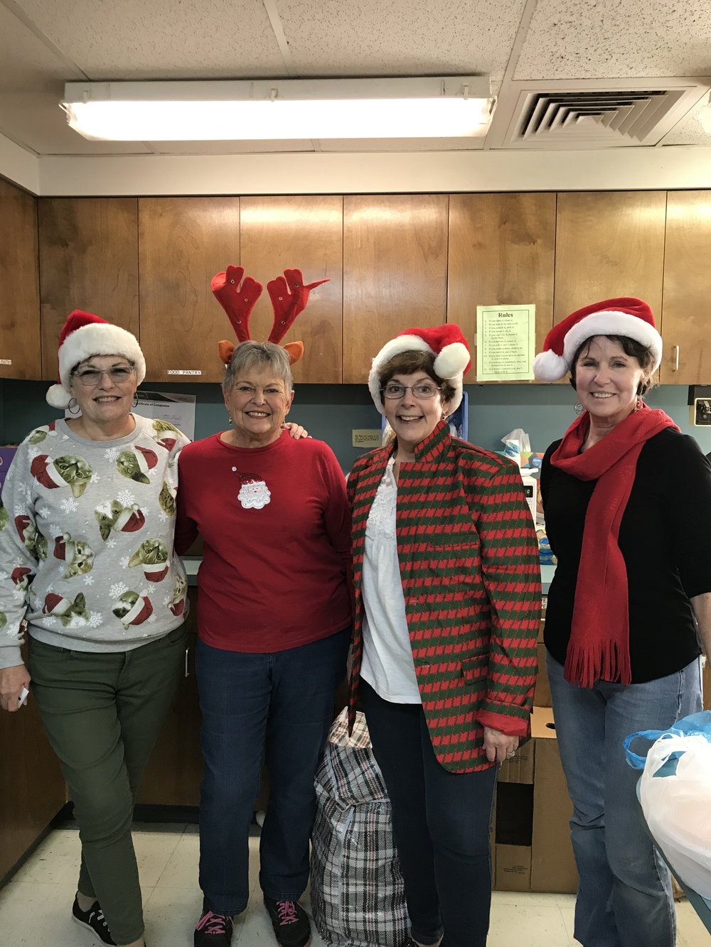 Our Pantry volunteers - some of the hardest working Angels around