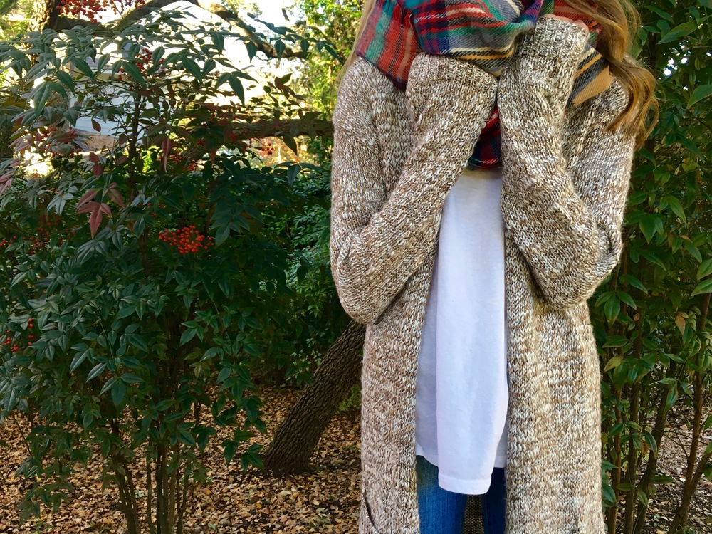 Scarf: Target, Sweater: Target, Shirt: Old Navy, Jeans: Joes Jeans, Shoes: Nordstrom Rack