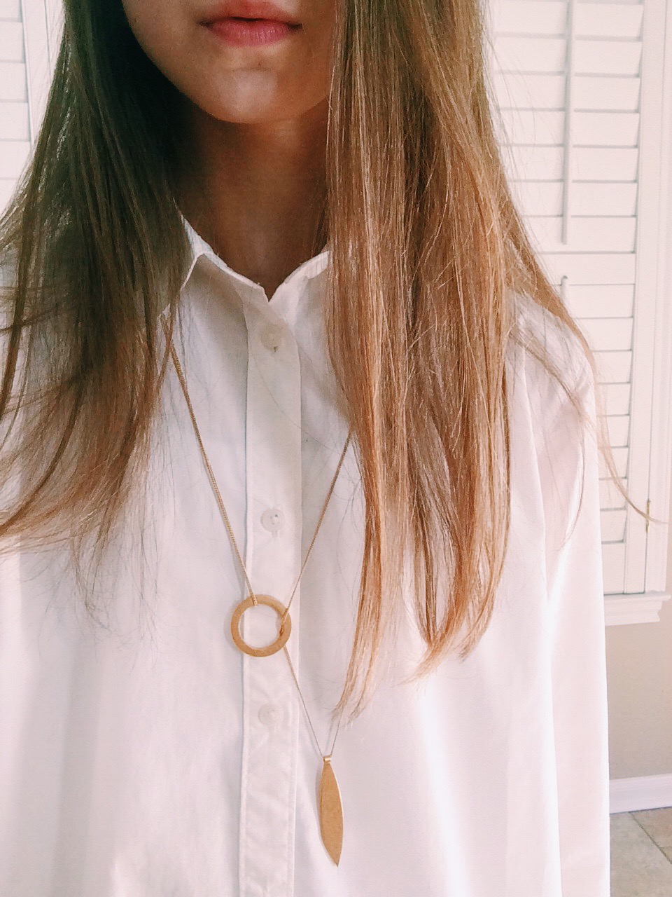 Shirt: Madewell, Necklace: Madewell