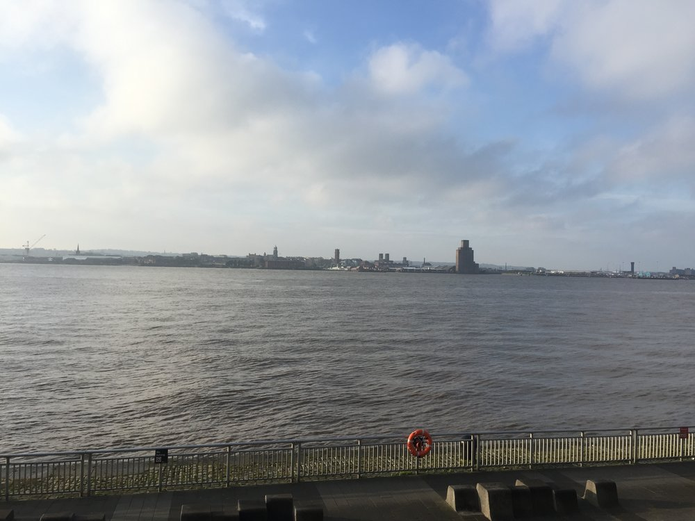 View from the conference centre in Liverpool