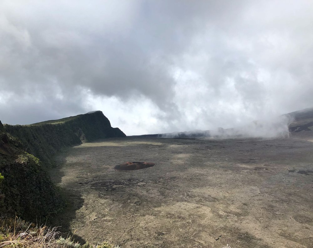 The caldera of Piton de la Fournaise