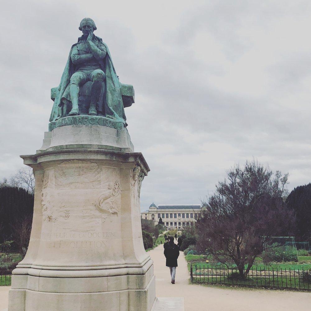 Statue of Jean-Baptiste Lamarck at the Jardin de Plantes