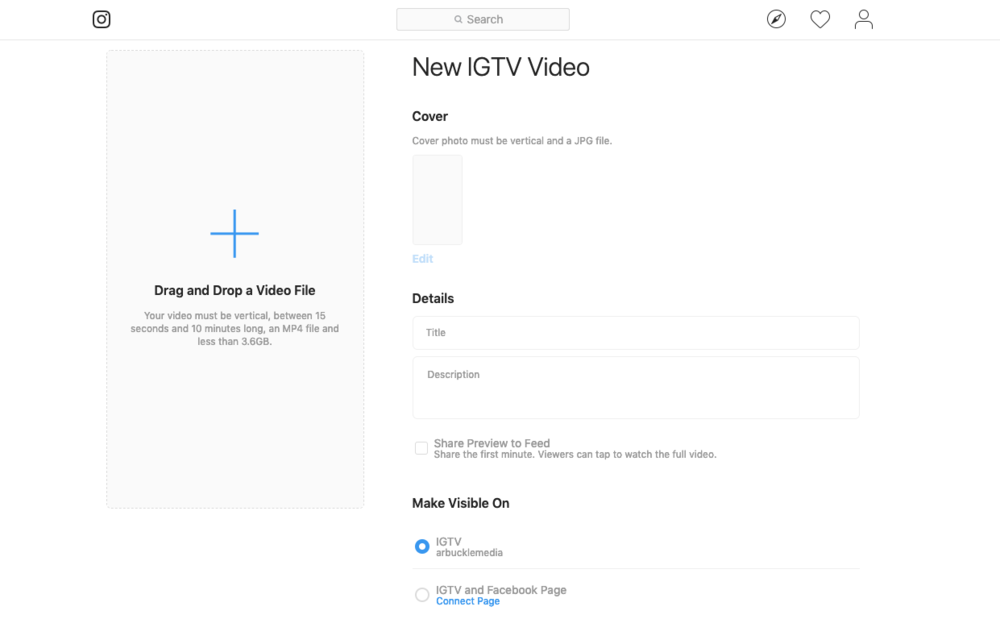 Uploading to IGTV
