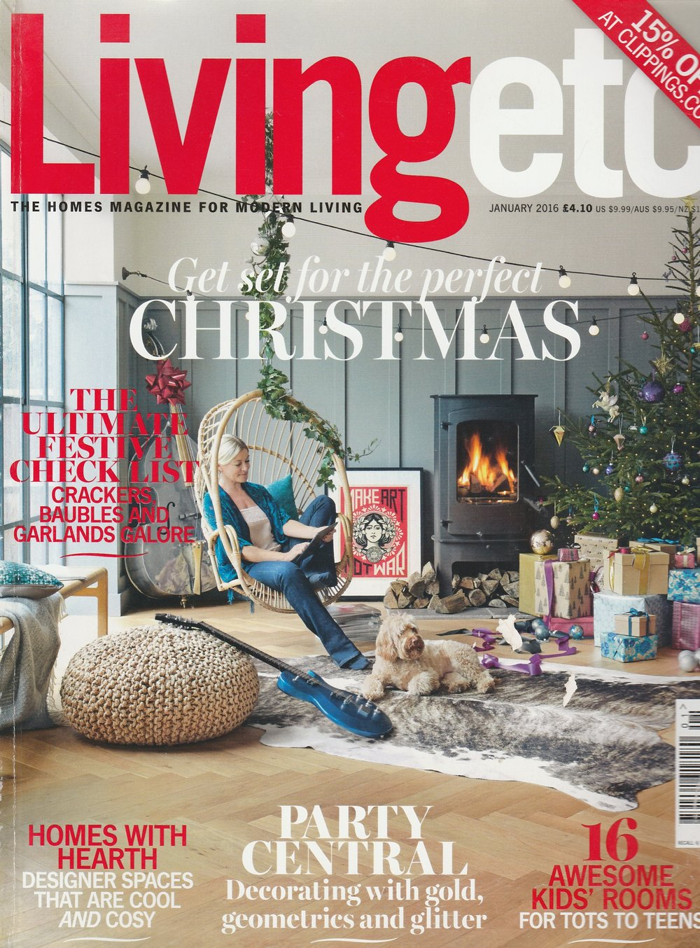 LivingEtc - Jo Davies - 'One to Watch'Feature article hghlighting Jo Davies as 'a future design star'Jan 2016