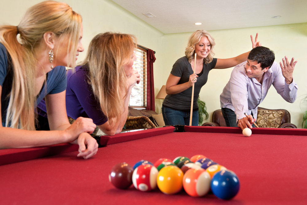 - game|hausImagine having that extra space where you can relax with family and friends. Play a game of pool or relax and enjoy the game on TV with a cold beer.