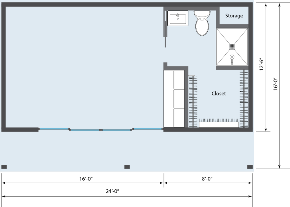 YARDHAUS BASE MODEL WITH FULL BATH, CLOSET AND KITCHENETTE - $53,450*