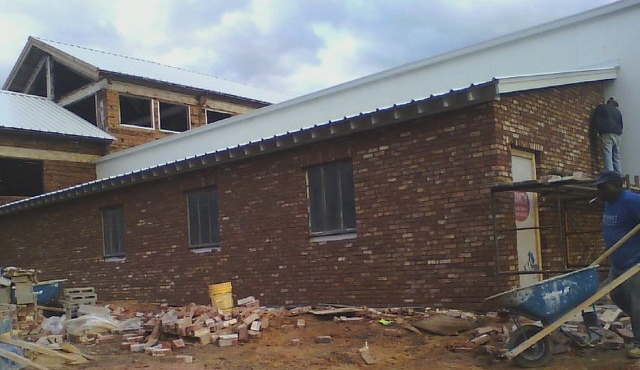 January 30, 2016 - Bricking the exterior additions