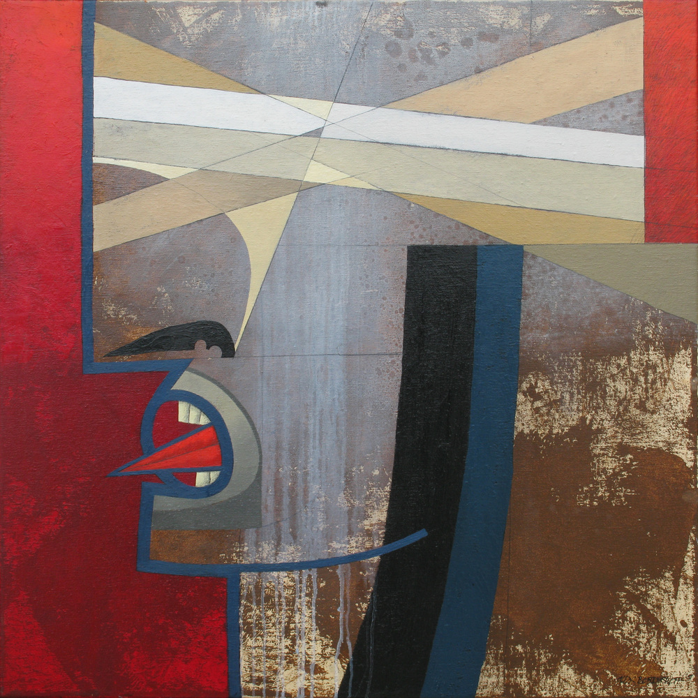 Riot II, oil on canvas, 85x85 cm, 2011
