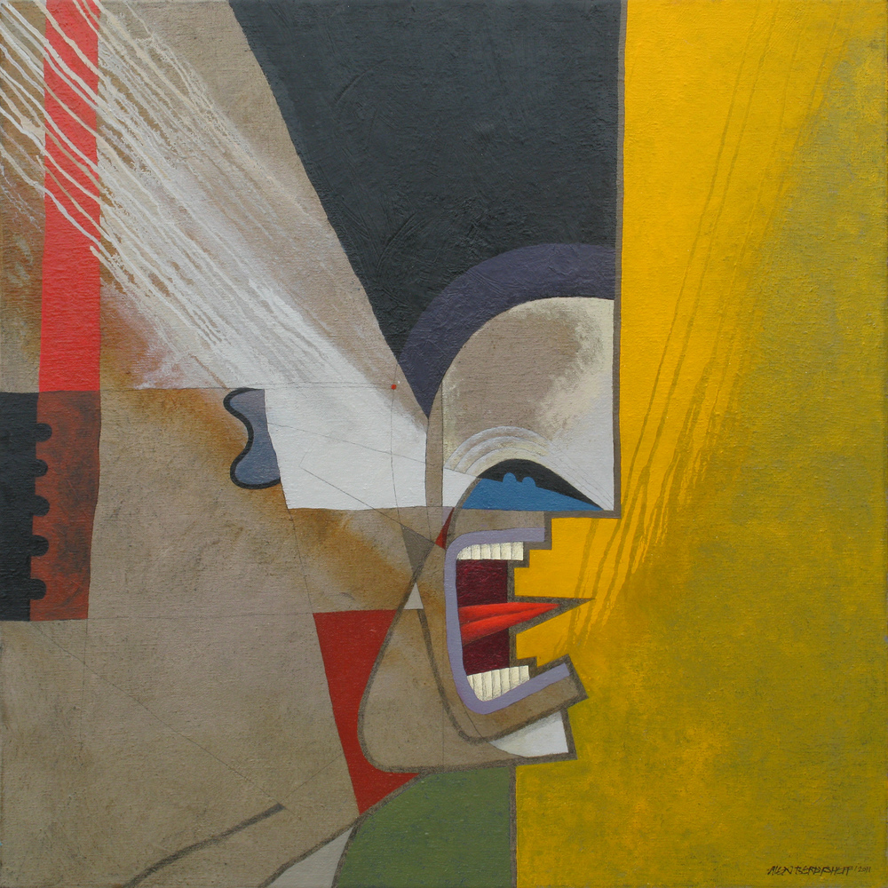 Riot III, oil on canvas, 85x85 cm, 2011