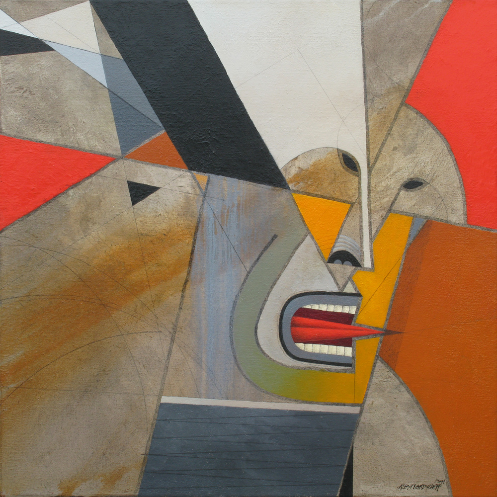 Riot IV, oil on canvas, 85x85 cm, 2011