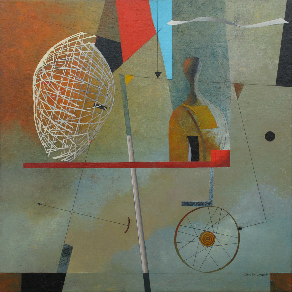 Time Traveller, oil on canvas, 85x85 cm, 2011