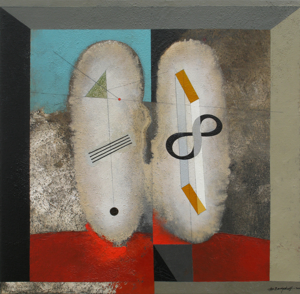 Ancestors IV, oil on canvas, 85x85 cm, 2011