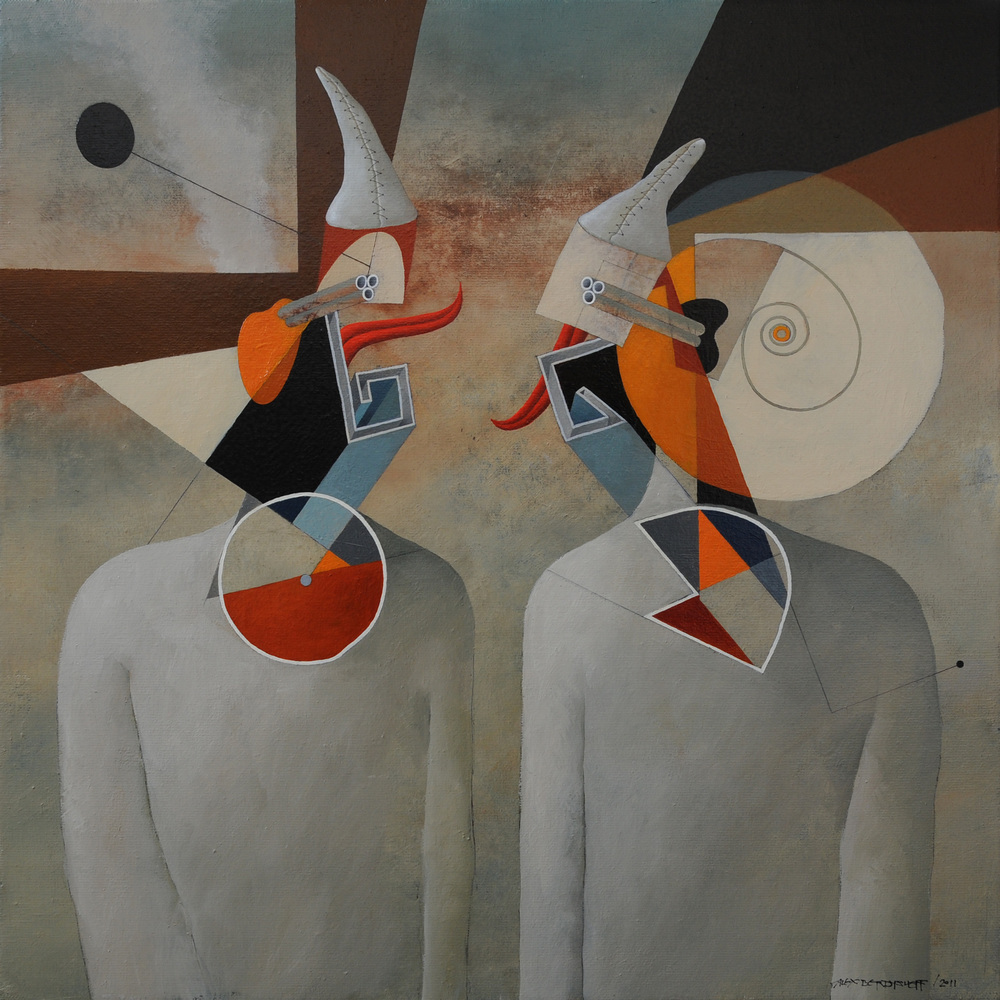 Dialogue, oil on canvas, 85x85 cm, 2011