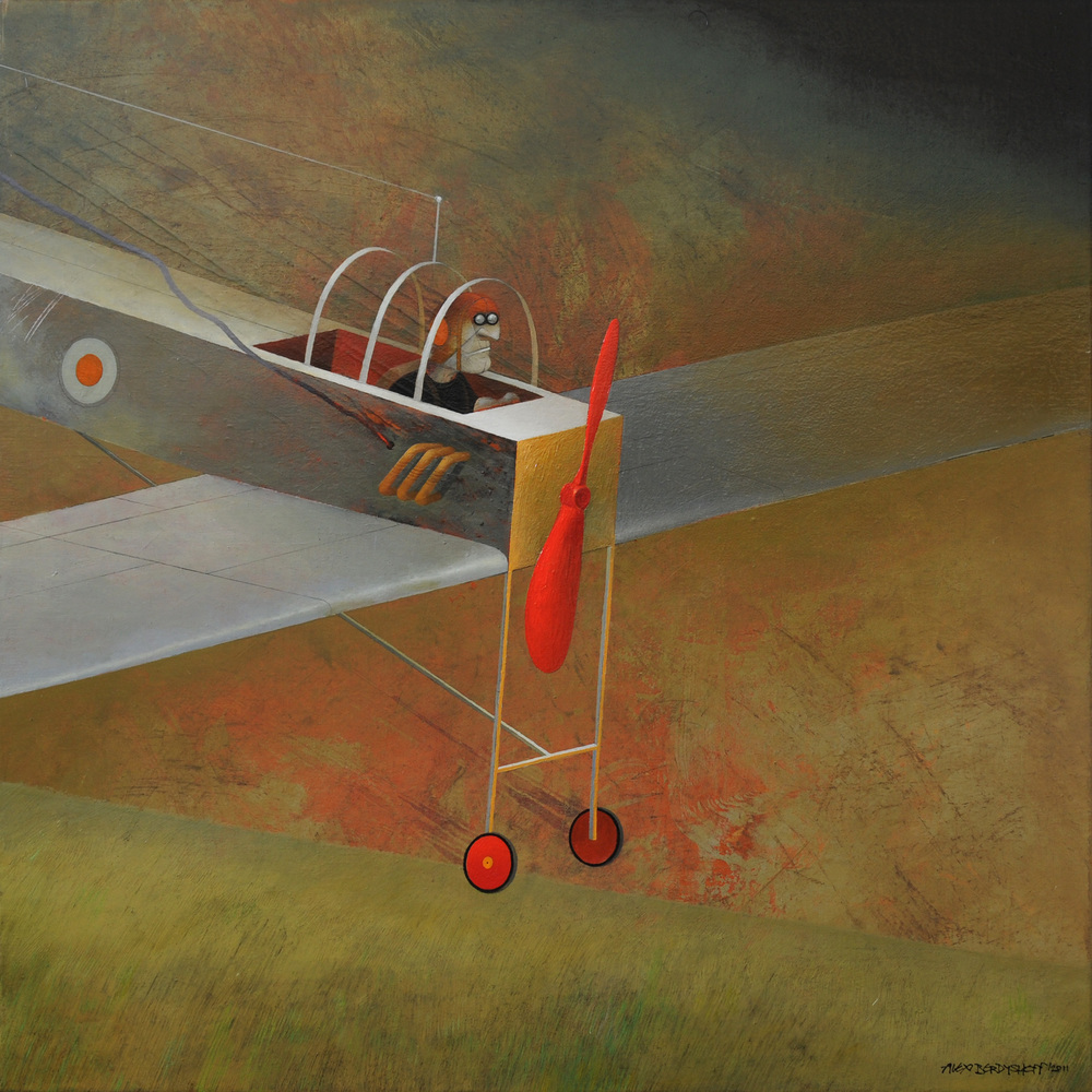 Forced Landing, oil on canvas, 85x85 cm, 2011