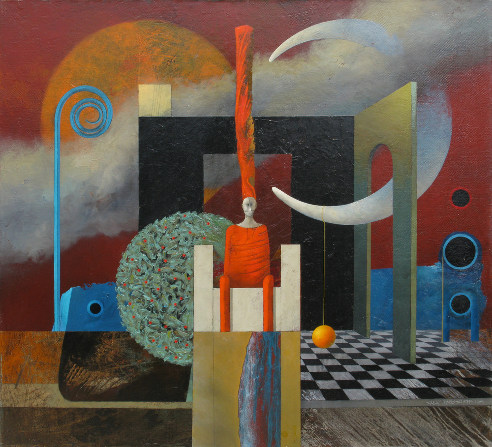 Illustration for an Nonexisting Tale, oil on canvas, 110x120 cm, 2011
