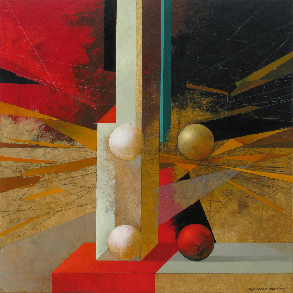 Metaphysical Still-life, oil on canvas, 85x85 cm, 2011