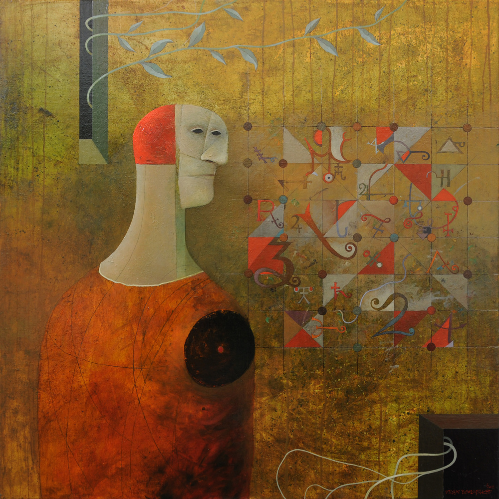 Miracle of Existence, oil on canvas, 85x85 cm, 2011