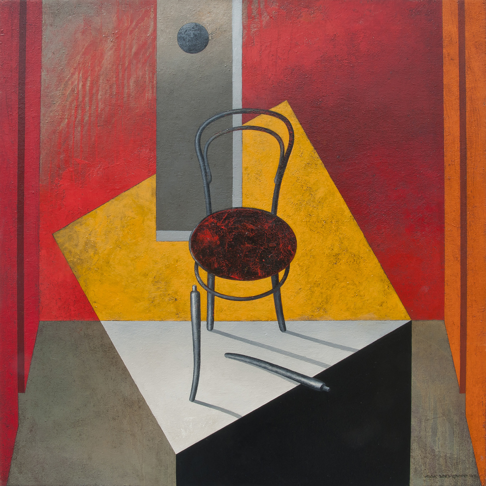 Against the Odds, oil on canvas, 85x85 cm, 2012