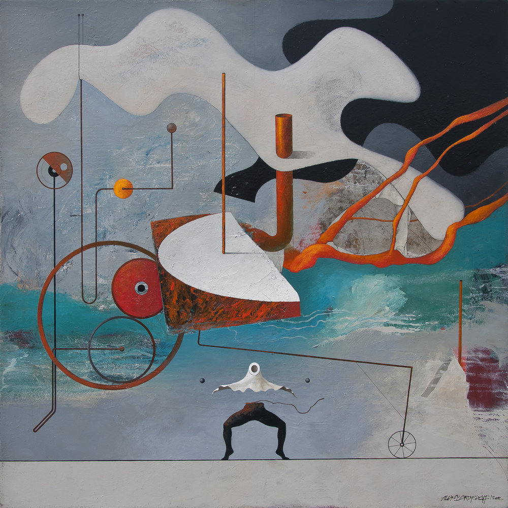 Arrival, oil on canvas, 85x85 cm, 2012