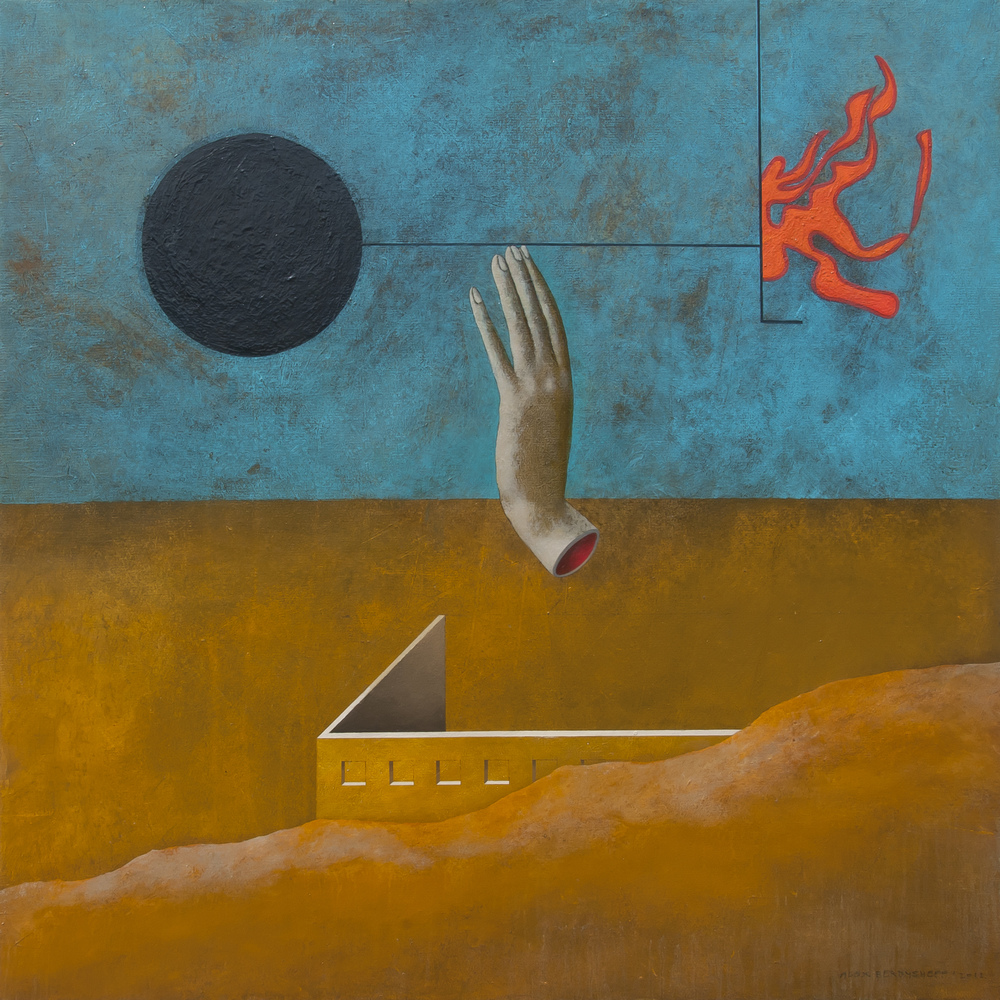 Choice Point, oil on canvas, 85x85 cm, 2012