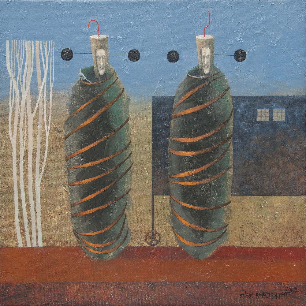 Committee, oil on canvas, 46x46 cm, 2012