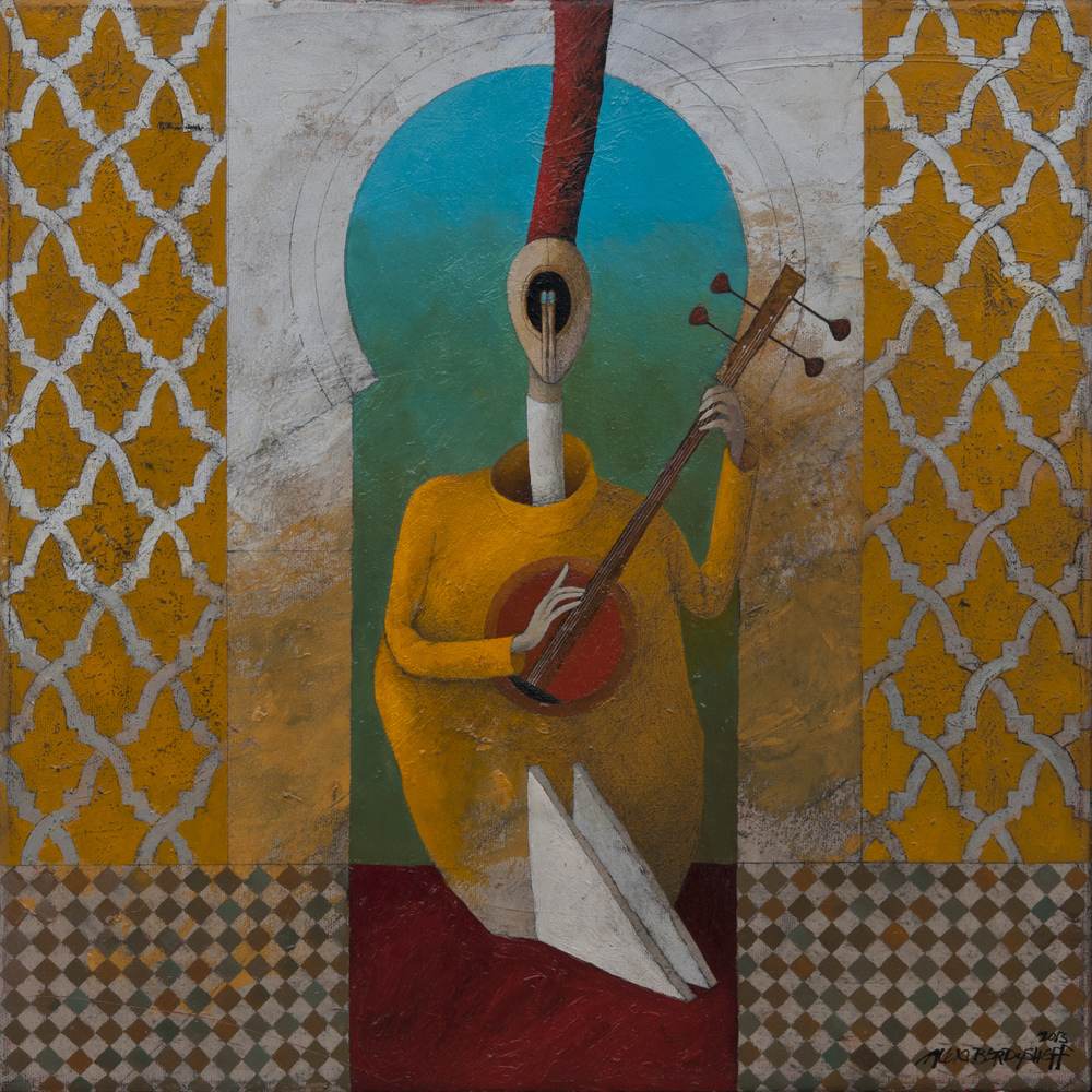 Musician, oil on canvas, 46x46 cm, 2013