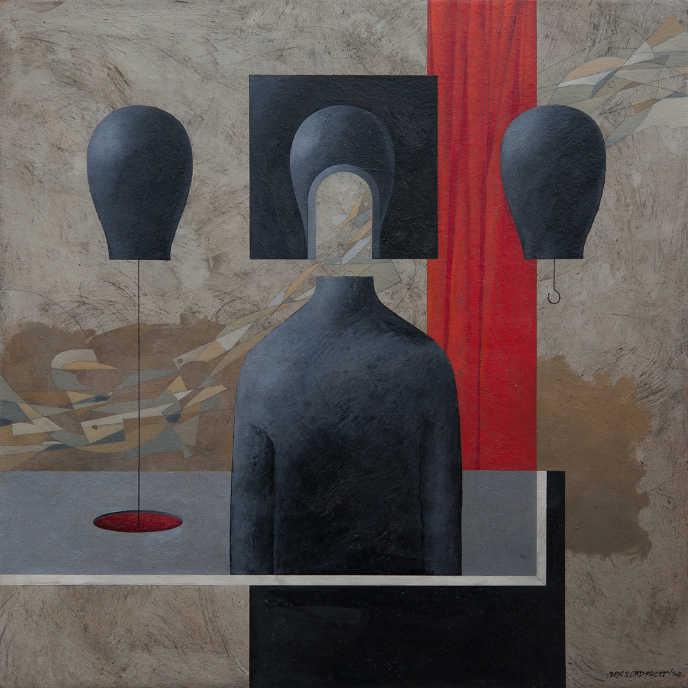 Not One Step Back, oil on canvas, 85x85 cm, 2013